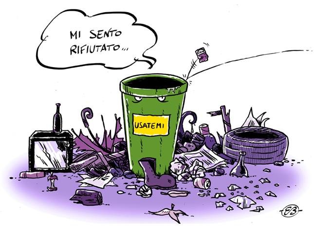 Ambiente-vignetta-lo-scherzatore-rifiuti
